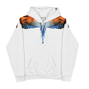 MARCELO BURLON COUNTY OF MILAN - WINGS HOODIE BIANCO BLU