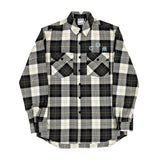 MARCELO BURLON COUNTY OF MILAN - COUNTY GOTHIC CHECK SHIRT NERO