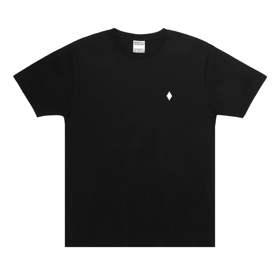 MARCELO BURLON COUNTY OF MILAN - CROSS LOGO TSHIRT NERO