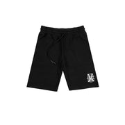 MARCELO BURLON COUNTY OF MILAN - MONOGRAM BASKET SHORT NERO
