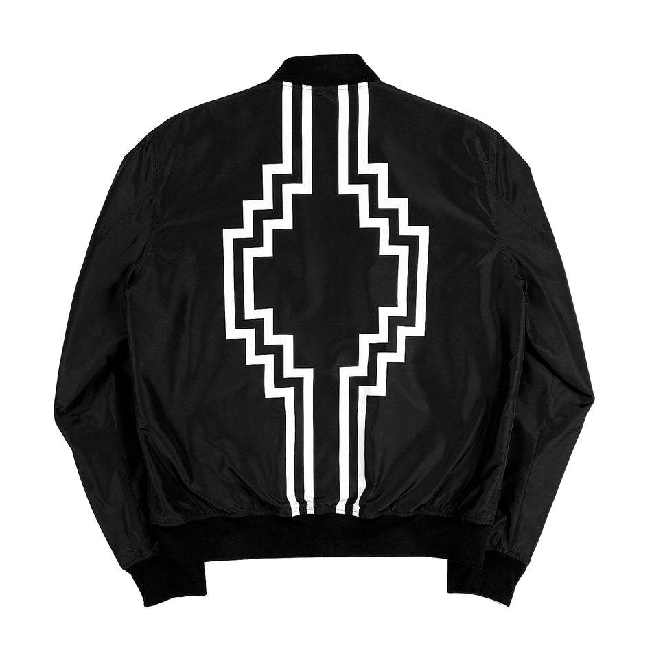 MARCELO BURLON COUNTY OF MILAN - RURAL CROSS LOGO BOMBER NERO
