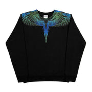 MARCELO BURLON COUNTY OF MILAN - WINGS CREW NERO BLU
