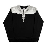 MARCELO BURLON COUNTY OF MILAN - WINGS CREW NERO BIANCO