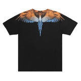 MARCELO BURLON COUNTY OF MILAN - WINTS TSHIRT NERO ARANCIO