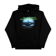 PLEASURES NOW - PERFORMANCE HOODIE LOGO NERO