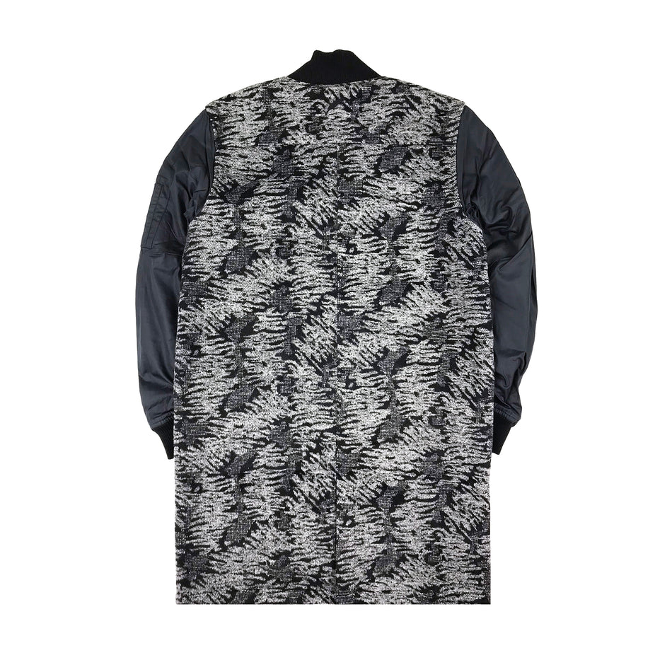 PUBLISH - LONG BOMBER BLACK GREY