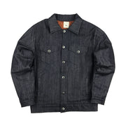SILTED COMPANY - WORLDWIDE DENIM JACKET NAVY ORANGE