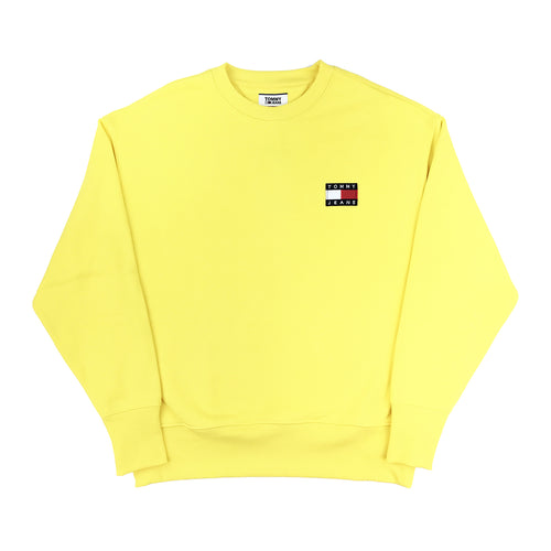 TOMMY JEANS - BADGE LOGO CREWNECK GIALLO