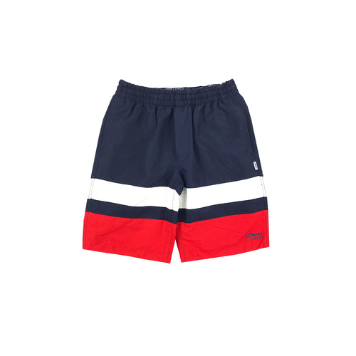 TOMMY JEANS - REVERSIBLE SHORT BLU NAVY ROSSO