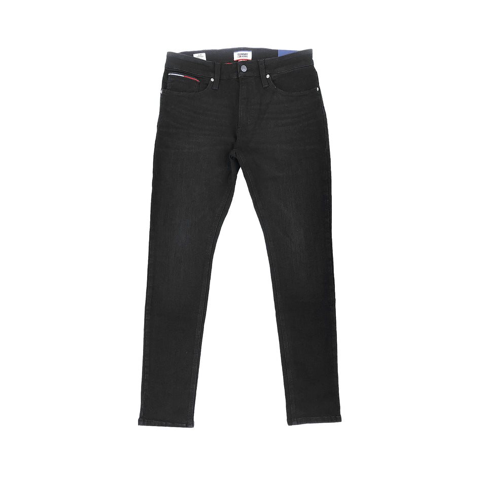 TOMMY JEANS - SLIM TAPERED DARK WASH JEANS  NERO