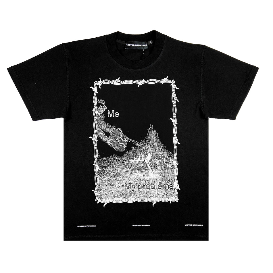 UNITED STANDARD - SAD MUSIC TSHIRT NERO