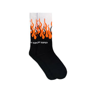 VISION OF SUPER - FLAME LOGO SOCKS ARANCIO