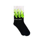 VISION OF SUPER - FLAME LOGO SOCKS FLUO