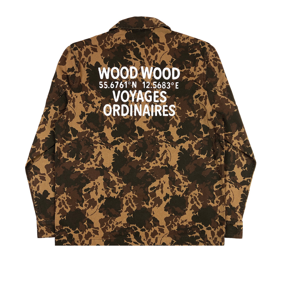 WOOD WOOD -  AXEL OVERSHIRT DENIM CAMO
