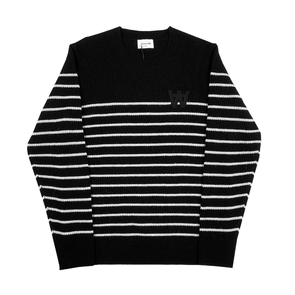 WOOD WOOD - LOUIS JUMPER GIROCOLLO NERO