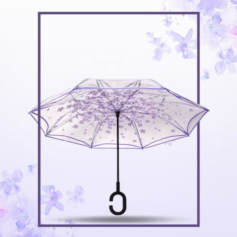 Parapluie transparent anti retournement
