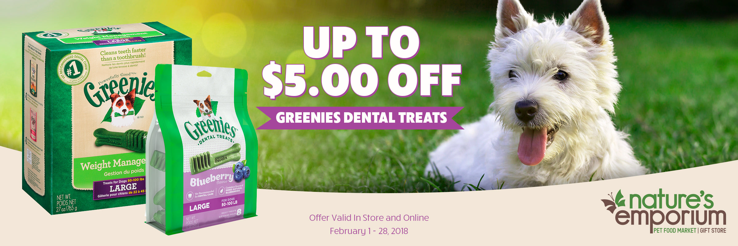Greenies Sale Banner