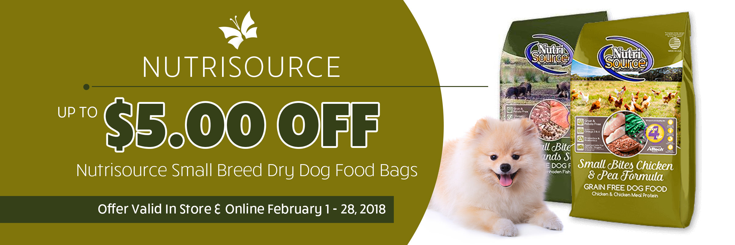NutriSource sale Banner