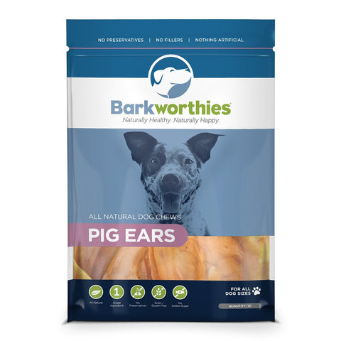 Barkworthies Pig Ears-10 pack Dog Treat