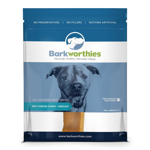 Barkworthies Big Cheese Chew - Medium Dog Treat
