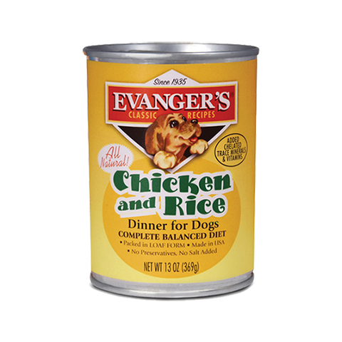 Evanger's Chicken & Rice Dinner Dog Food