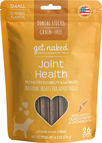 Get Naked® Dental Chew Sticks, Joint Health, Small