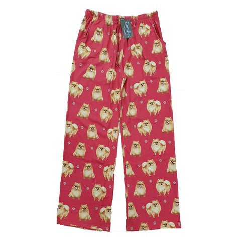Comfies Dog Breed Lounge Pants for Women, Pomeranian