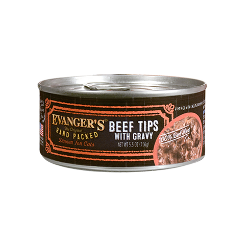 Evanger's Beef Tips With Gravy Dog Food