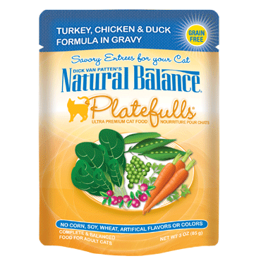 Natural Balance Platefulls® Turkey, Chicken & Duck Formula in Gravy Cat Pouch