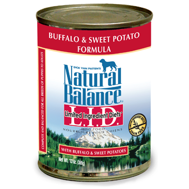 Natural Balance L.I.D. Limited Ingredient Diets® Buffalo & Sweet Potato Canned Dog Formula