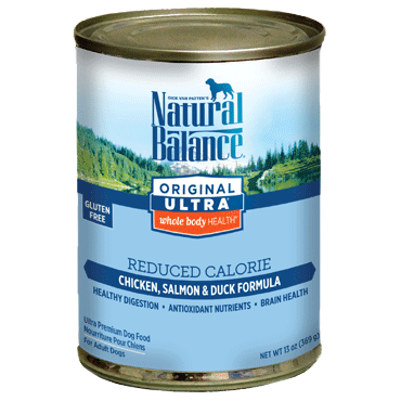 Natural Balance Original Ultra® Whole Body Health® Reduced Calorie Chicken, Salmon & Duck Canned Dog Formula