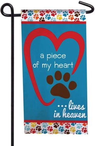Evergreen Pet Memorial Mini Flag - Lives in Heaven