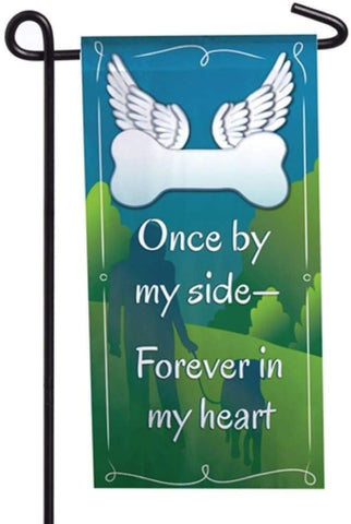 Evergreen Pet Memorial Mini Flag - Forever in my Heart