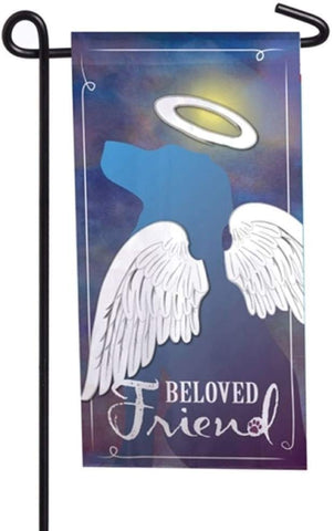 Evergreen Pet Memorial Mini Flag - Beloved Friend
