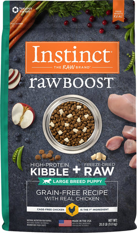Instinct® Raw Boost® Grain-Free Recipe with Real Chicken for Large Breed Puppies