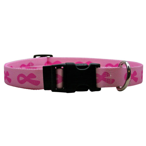 Yellow Dog - Breast Cancer Pink Collar