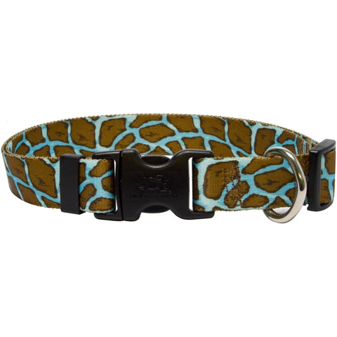 Yellow Dog - Giraffe Teal Collar