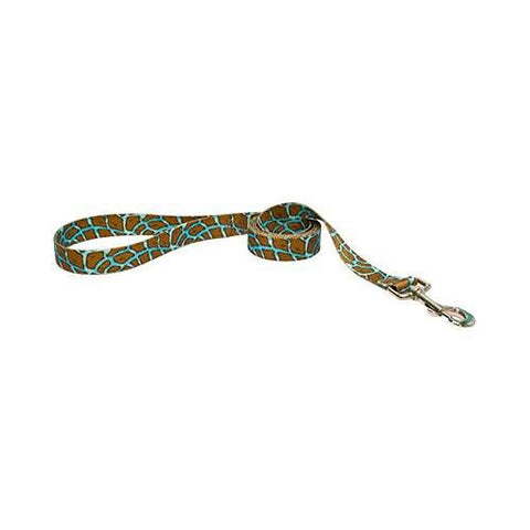 Yellow Dog - Giraffe Teal Leash
