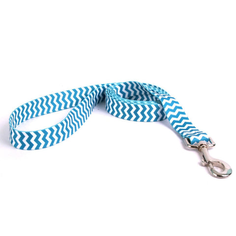 Yellow Dog - Chevron Blueberry Leash