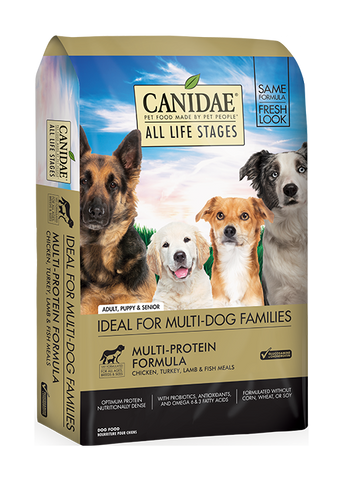 CANIDAE® ALL LIFE STAGES CHICKEN, TURKEY, LAMB & FISH MEALS MULTI-PROTEIN FORMULA  DRY DOG FOOD