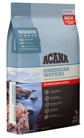 Acana + Wholesome Grains American Waters Formula for Dogs