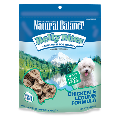 Natural Balance Belly Bites™ Chicken & Legume Formula Dog Treats