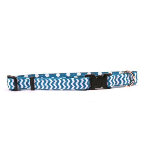 Yellow Dog - Chevron Blueberry Collar