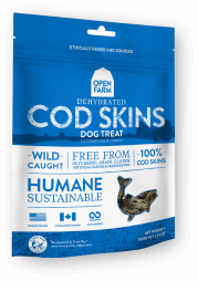 Dehydrated Cod Skins for Dogs
