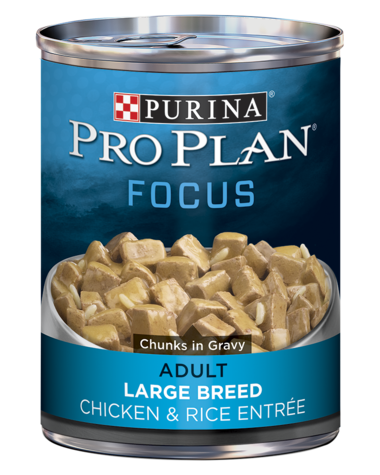 Pro Plan FOCUS Adult Large Breed Chicken & Rice Entrée Chunks In Gravy Wet Dog Food