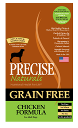 Precise Naturals Grain Free Chicken Formula Dog Food