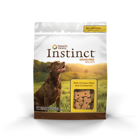Nature's Variety Instinct Grain-Free Dog Biscuit Treats - Chicken Meal And Cranberries