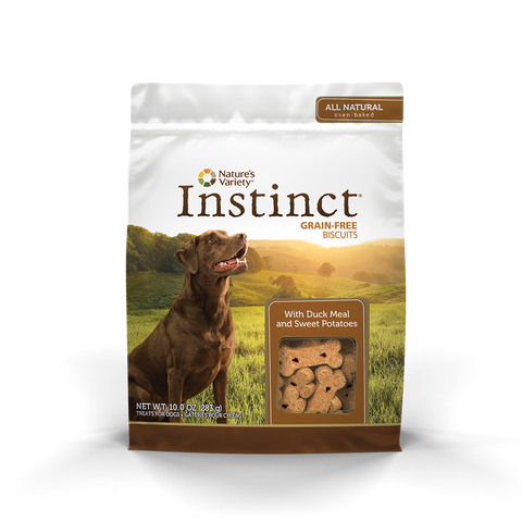 Nature's Variety Instinct Grain-Free Dog Biscuit Treats - Duck Meal And Sweet Potatoes