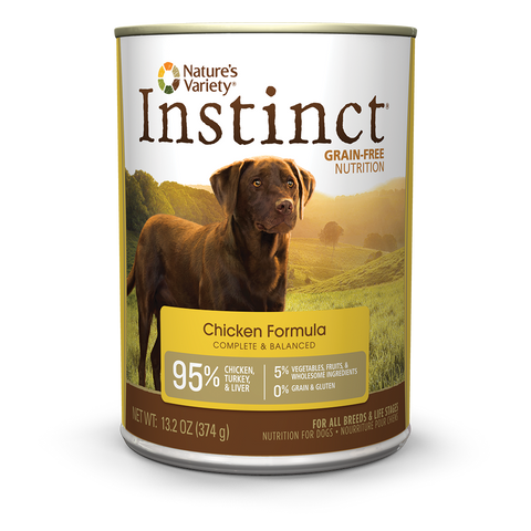 Nature's Variety Instinct Grain-Free Canned Dog Food - Chicken