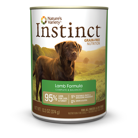 Nature's Variety Instinct Grain-Free Canned Dog Food - Lamb